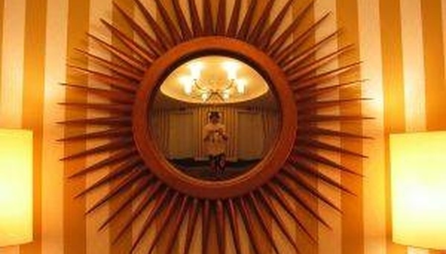 Wall mirrors make excellent decorating pieces.