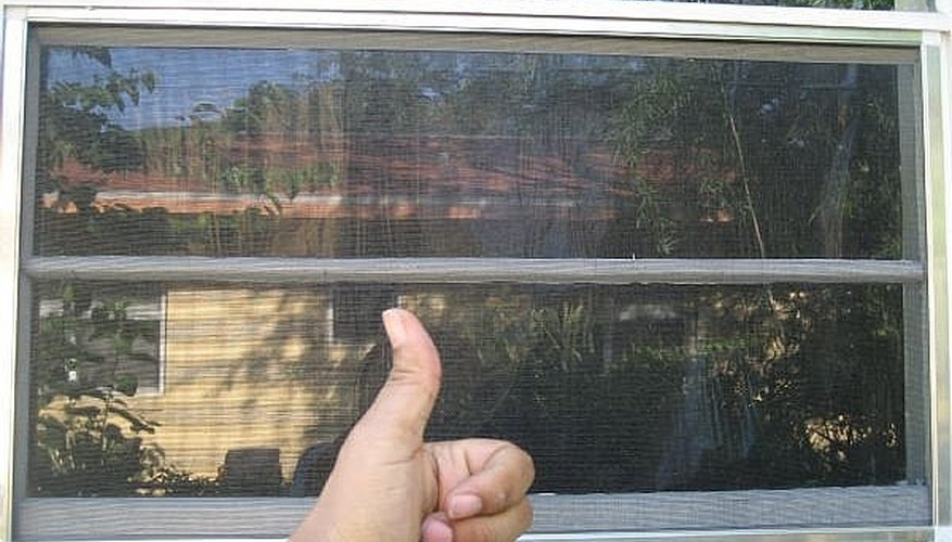 Built and installed window screen.
