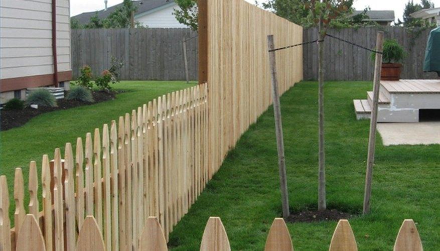 A beautiful cedar fence