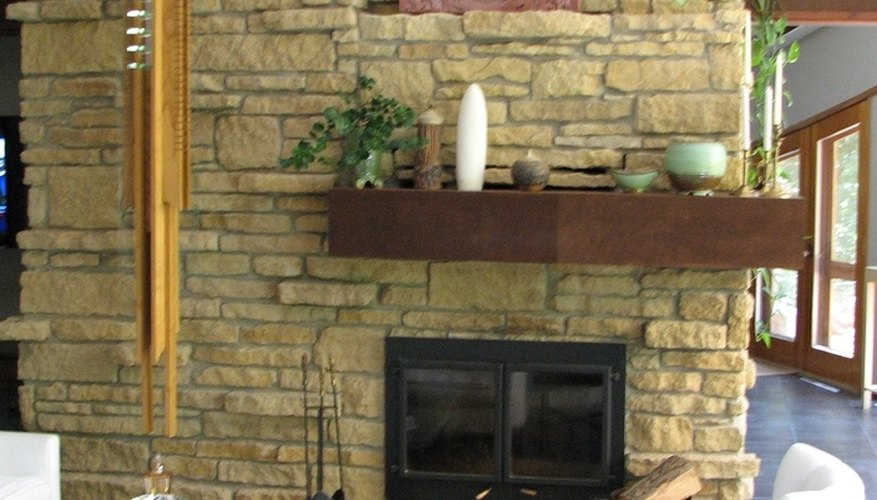 Fireplace after remodeling