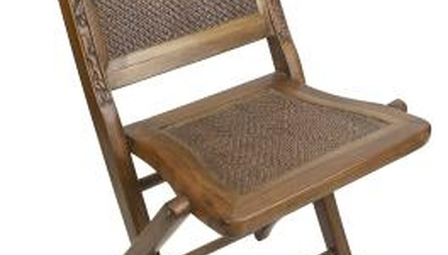 Cane chairs are made by weaving strips of bamboo or sugar cane.