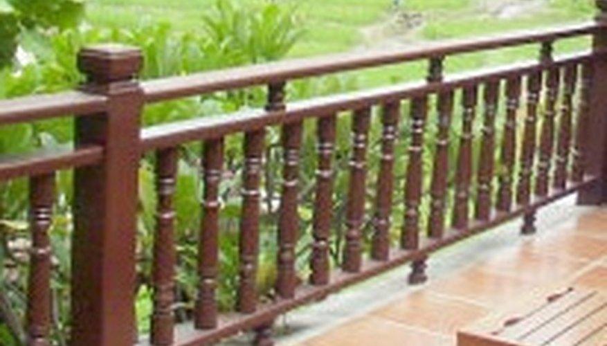 A more ornate and custom wood railing