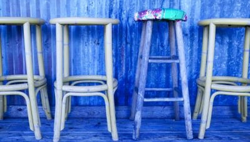 Refinish old bar stools to update your decor.