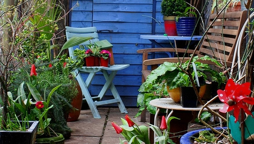 Patio chairs come in a range of seat heights.