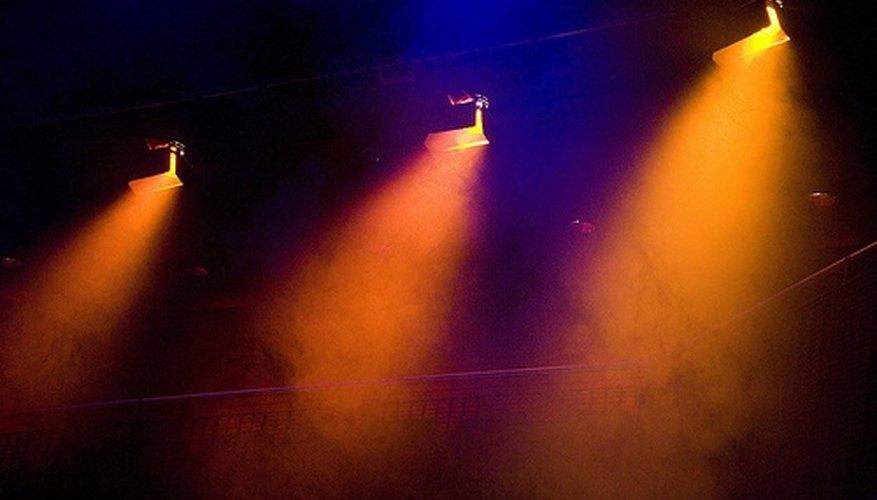 A series of lights.
