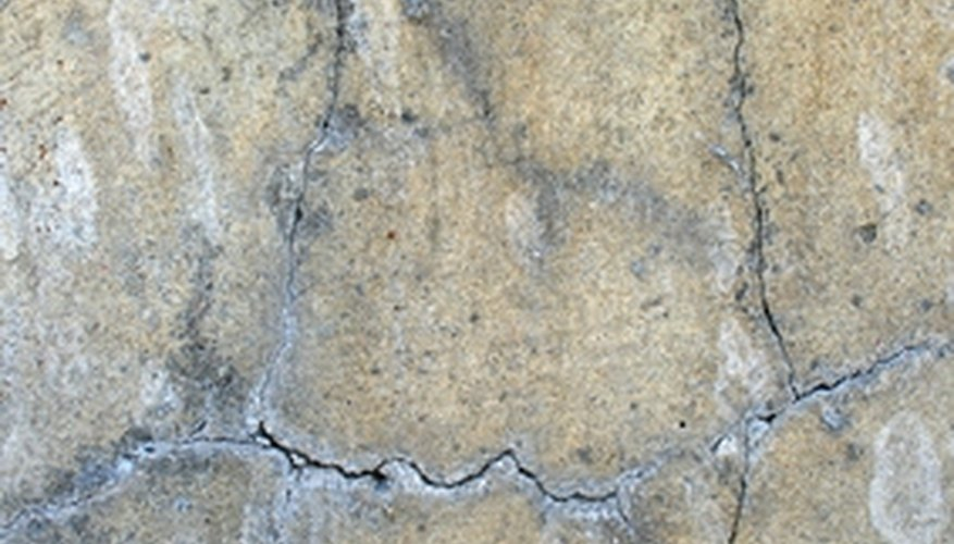 Cracks in concrete walls should be repaired.