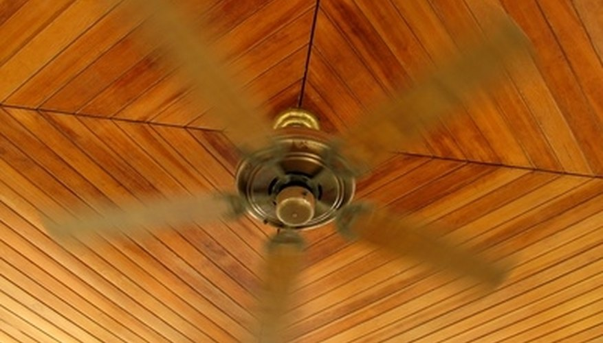 Ceiling fans have three or four main wires.