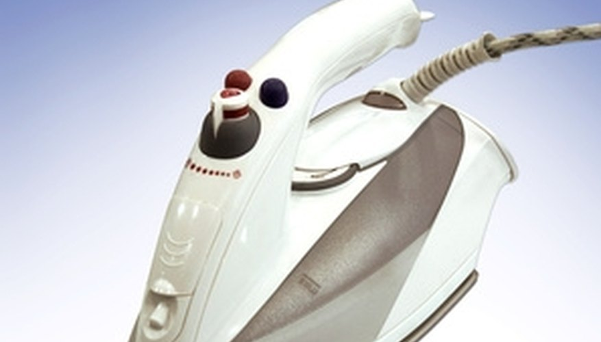 Steam irons can be used on carpets to remove stains.