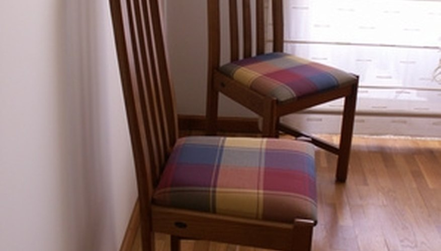 Restuffed dining room chairs.
