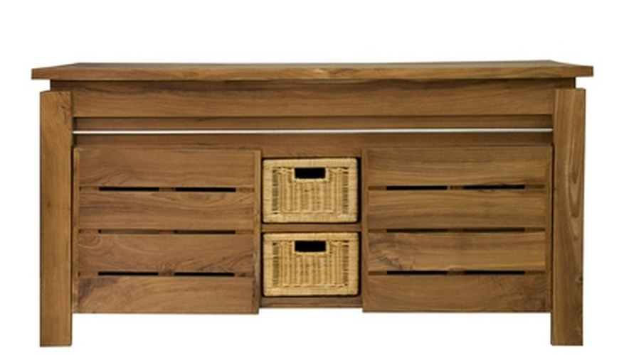 Wooden furniture can be finished with a polyurethane spray.