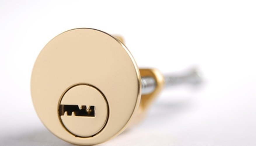 Cylinder door locks can be opened without a locksmith.