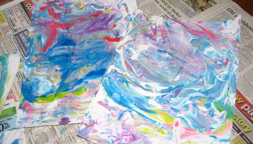 Use an assortment of techniques when painting with preschoolers.