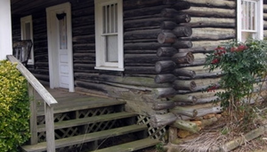 Log cabins often require the routine removal of mold from their exterior.