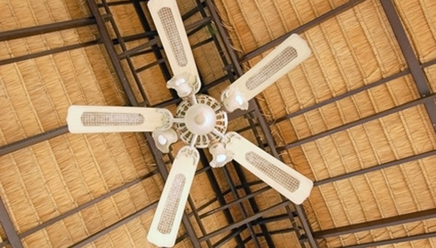 Convert a ceiling fan to solar power