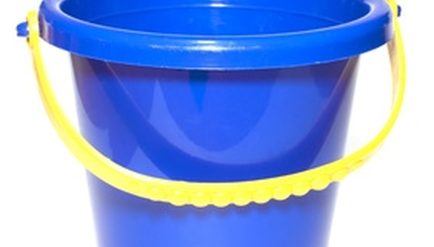 Mix your next cleaning solution in a bucket.