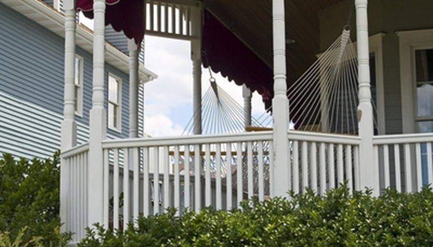 Porch railings must fit the neighborhood's style.