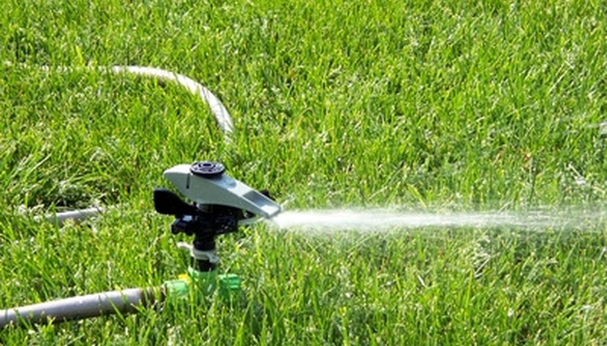 Lawn sprinkler heads and risers occasionally require repair.