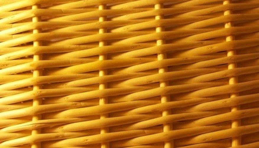 Up close view of wicker furniture