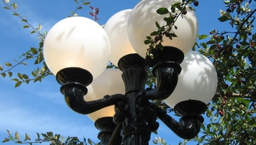 Adorn lampposts with hanging baskets of flowers.