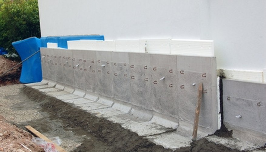 Even a concrete foundation needs to be protected from water erosion.