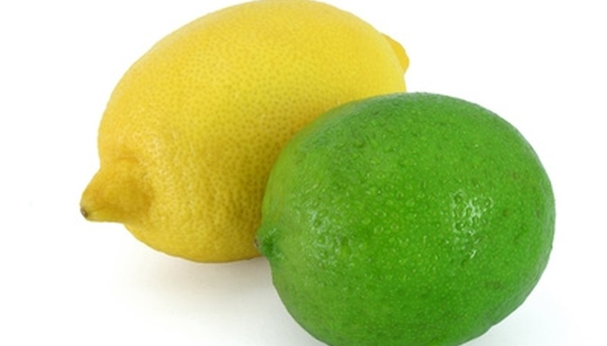 Lemon and lime trees have similarities.