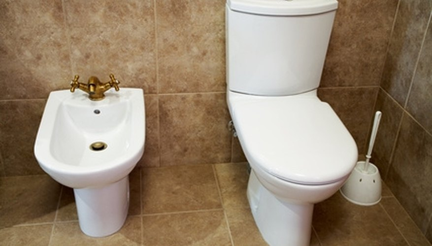 A bidet is often made from the same material and matches the other bathroom fixtures.