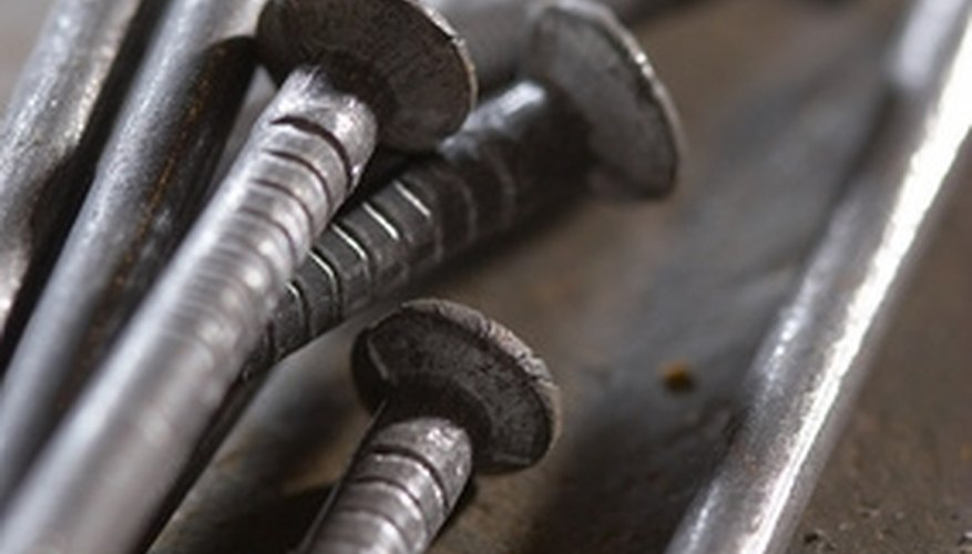 Many types of nails are involved in construction.