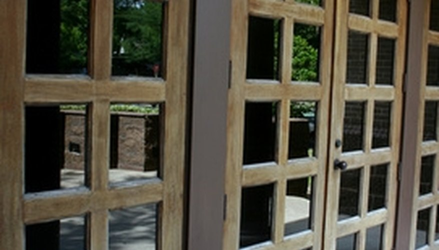 Stain makes attractive French doors look even better.