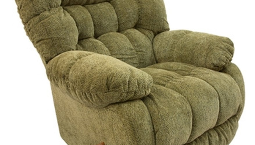 Fabric and leather are the two main coverings for recliners.