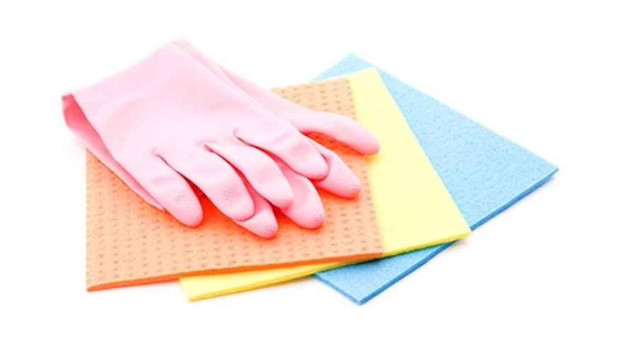 Use gloves when you clean up mold.