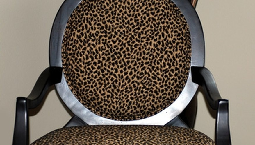 Boild animal prints can be an interesting addition to ordinary furniture.