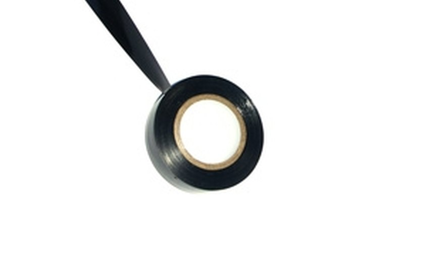 Black plastic electrical tape