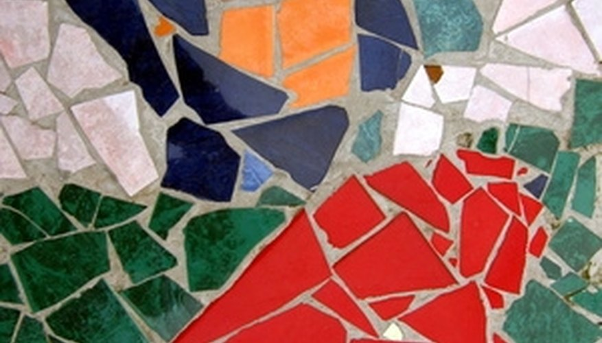 Get really creative with broken tile pieces.