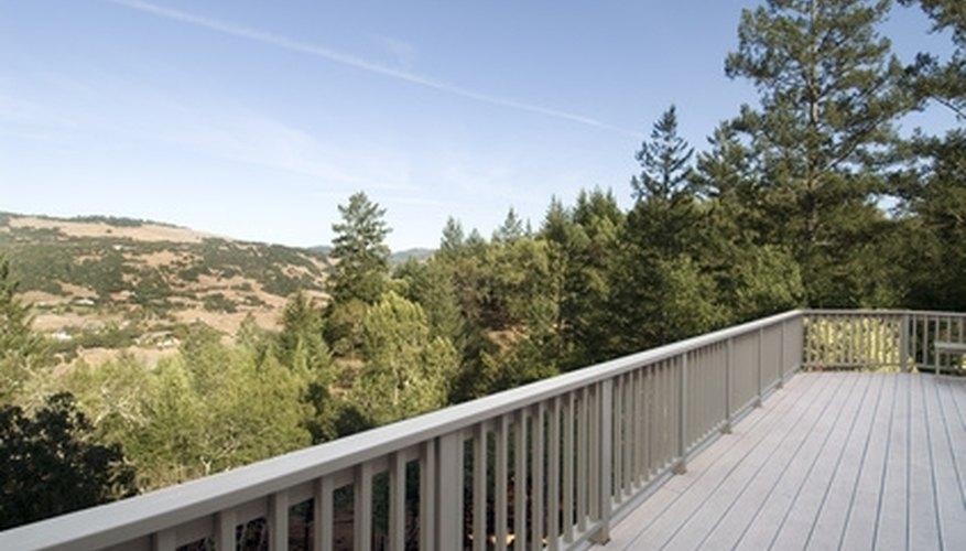 Typical deck railing