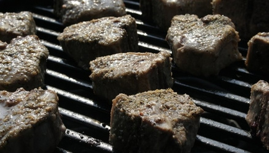 Anchor down your outdoor grill so that you may cook on it safely.