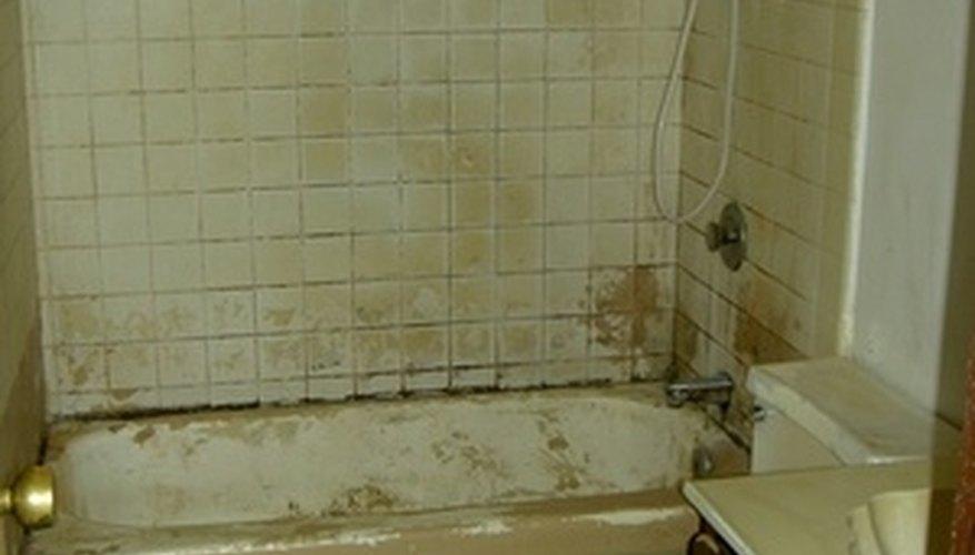 An old bathroom in need of TLC.