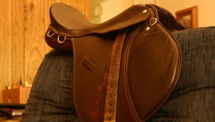 A saddle with D-rings.