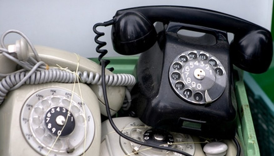 The rotary dial telephone was the only choice for many years.