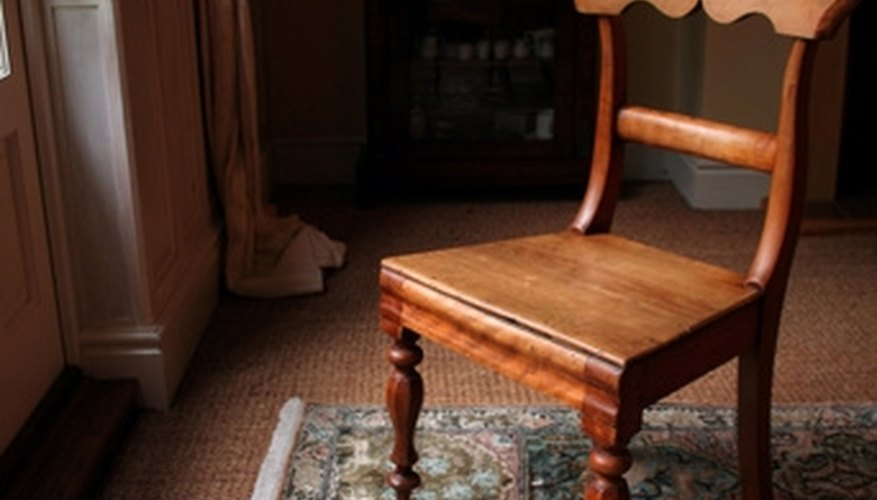 The legs of wooden chairs easily become loose or break off at the joints.