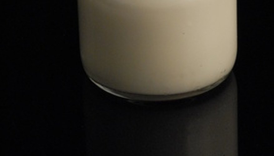 Yogurt can be cultured from fresh or dried milk.