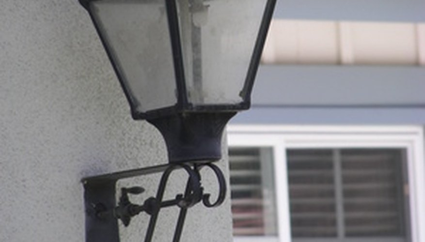 Lampposts that are rusted can easily be repaired.