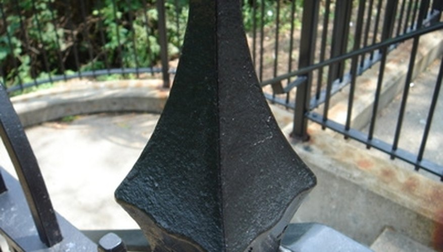 Finials are placed on top of fence posts.