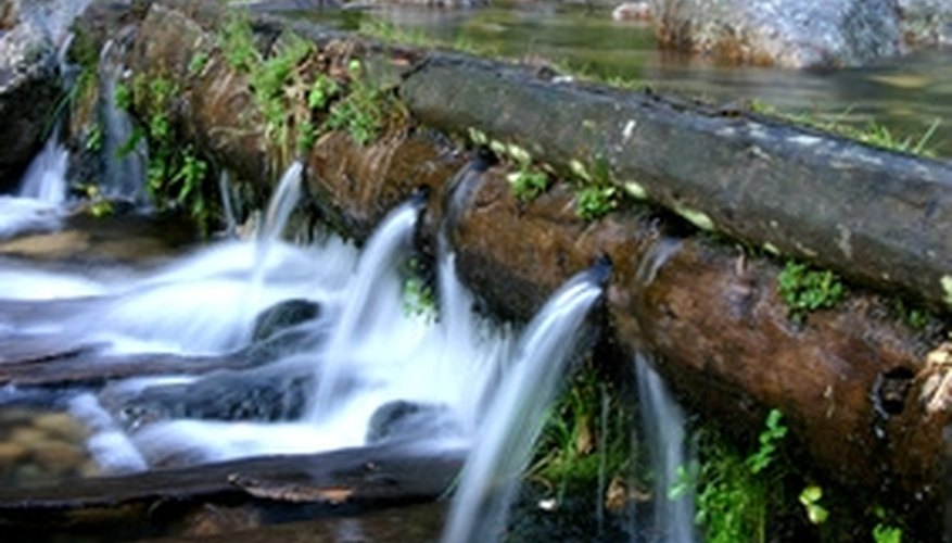 Small waterfalls add pleasant sounds and appealing aesthetics to your yard.