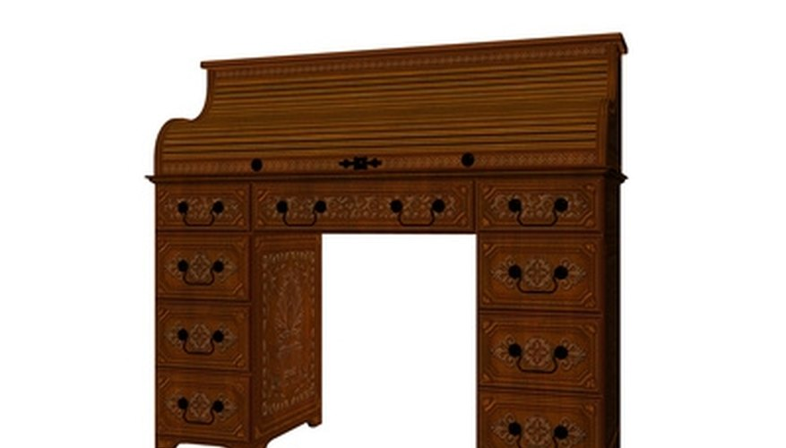 Restored oak roll top desks maintain their appearance for generations