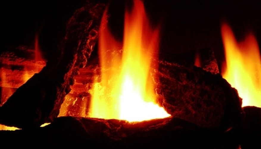 Many fireplace owners are replacing gas logs with glass crystals.