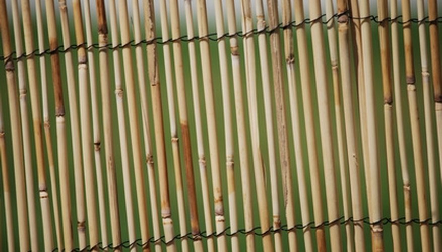 A slatted bamboo privacy fence may not offer enough privacy.