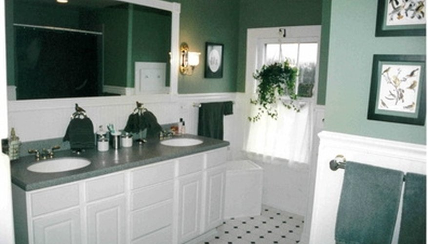 stark white cabinets can be warmed up with stain
