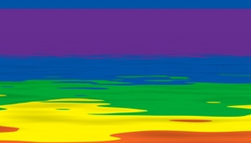 A rainbow flag that symbolizes gay culture.