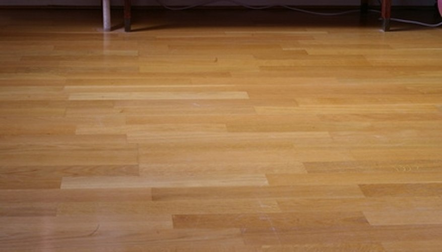 Refinishing a hardwood floor without sanding reduces mess.