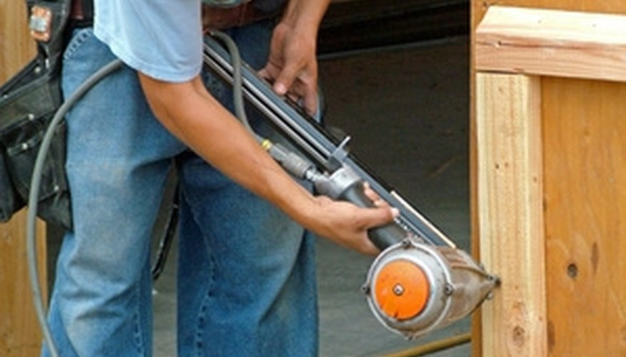 A nail gun can require up to 3 CFM and 100 PSI.